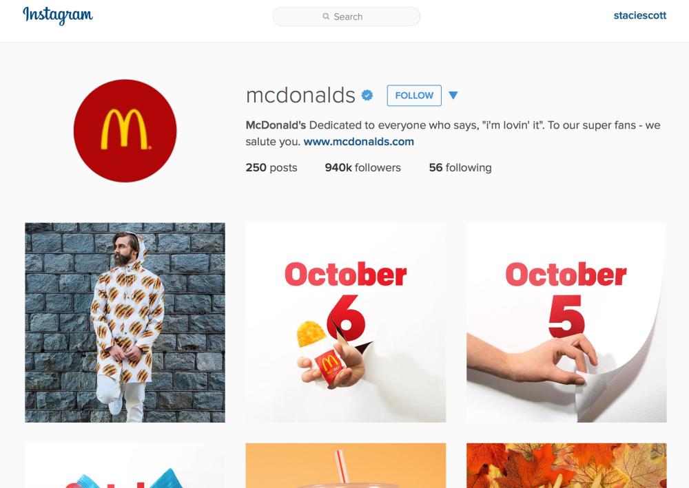 McDonalds Insta