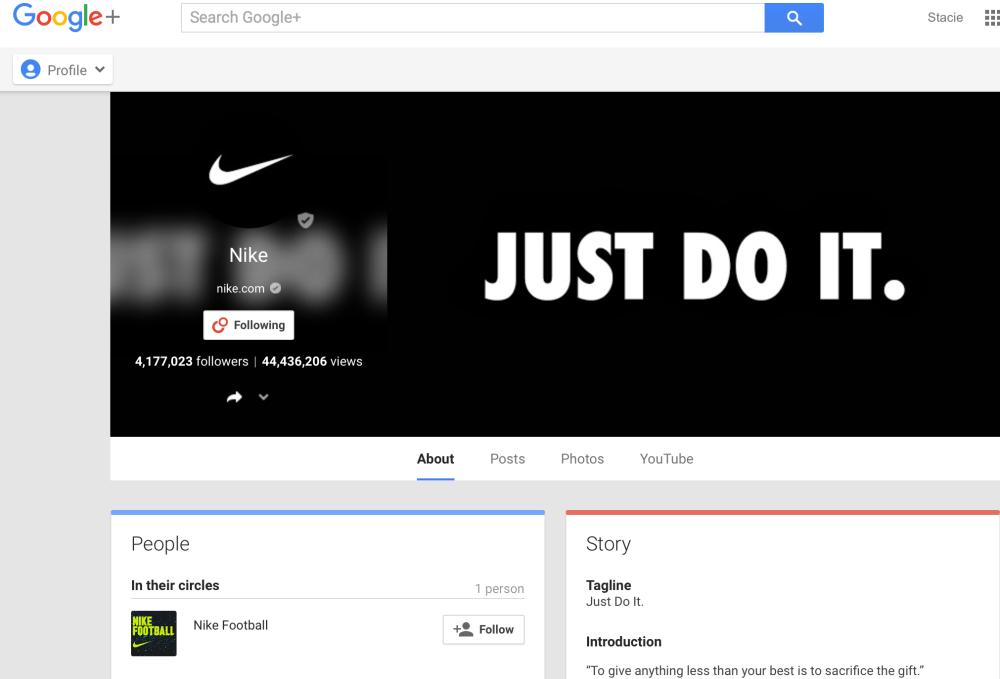 Nike Google+